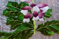 Acanthus, detail, silk shading on silk; 2010