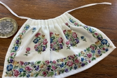 C18th apron, based on an example from the Metropolitan Museum, NY; 2020