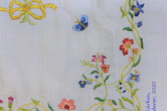 Detail of Butterfly Miniature Bedspread