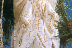 Christmas angel, 1998, stitched for the Queen's Christmas tree competition
